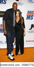 LOS ANGELES, CALIFORNIA - May 18, 2012. Khloe Kardashian and Lamar Odom at the 19th Annual Race To Erase MS Event held at the Hyatt Regency Century Plaza, Los Angeles.