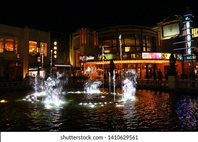 Los Angeles, California - May 20, 2019: The Grove at Farmers Market, a retail and entertainment complex in Los Angeles