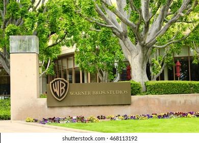 Los Angeles, California - May 6, 2016: Snapshot of Warner Bros. Studios facade in L.A