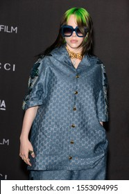Los Angeles, California - November 02, 2019: Billie Eilish arrives at the 2019 LACMA Art + Film Gala Presented By Gucci