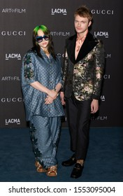 Los Angeles, California - November 02, 2019: Billie Eilish and  Finneas O'Connell arrive at the 2019 LACMA Art + Film Gala Presented By Gucci