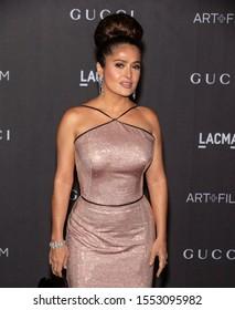 Los Angeles, California - November 02, 2019: Salma Hayek arrives at the 2019 LACMA Art + Film Gala Presented By Gucci