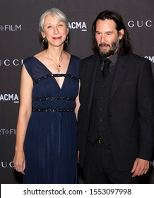 Los Angeles, California - November 02, 2019: Keanu Reeves and Alexandra Grant arrive at the 2019 LACMA Art + Film Gala Presented By Gucci