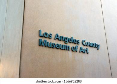 Los Angeles, California – October 2, 2019: LACMA Los Angeles County Museum of Art on Wilshire Blvd, Los Angeles