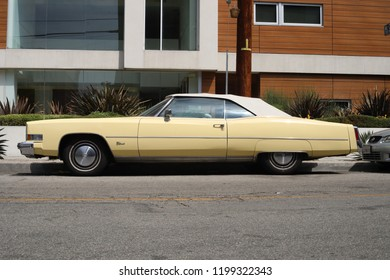 Los Angeles, California - September 1, 2018: Cadillac Eldorado Convertable, from 1970s