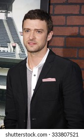 LOS ANGELES, CALIFORNIA - September 19, 2012. Justin Timberlake at the Los Angeles premiere of 'Trouble With The Curve' held at the Mann's Village Theatre, Los Angeles.