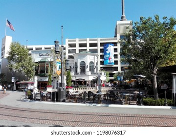 LOS ANGELES, California - September 8, 2018: The Grove at Farmers Market, a retail and entertainment complex in Los Angeles