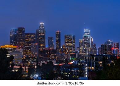 Los Angeles, California Skyline at Dusk