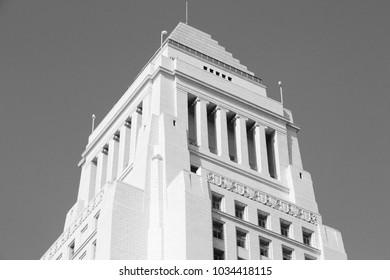 Los Angeles, California, United States. City Hall building.