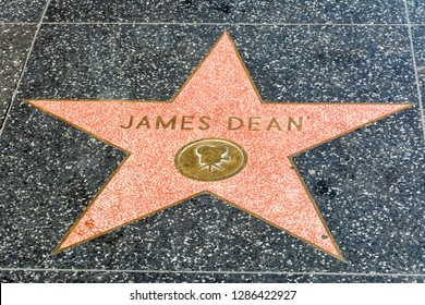 Los Angeles, California, United States of America - January 8, 2017. James Dean star on the Hollywood Walk of Fame in Los Angeles, CA.