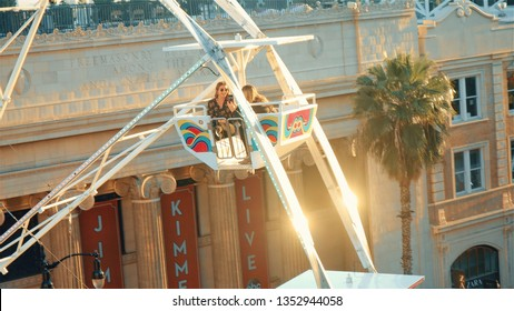 Los Angeles, California, United States – March 28, 2019: Shazam Film Premiere, Arrivals, Chinese Theater. Warner Bros. Pictures and DC comics Hollywood premiere of SHAZAM! Ferris wheel on Hollywood.