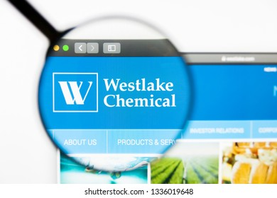 Los Angeles, California, USA - 10 March 2019: Illustrative Editorial, Westlake Chemical website homepage. Westlake Chemical logo visible on display screen