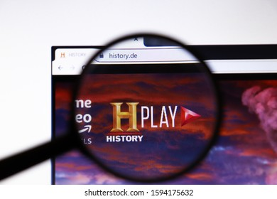 Los Angeles, California, USA - 19 December 2019: History website page. History.com logo on display screen close-up, Illustrative Editorial.