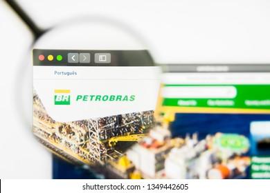 Los Angeles, California, USA - 25 March 2019: Illustrative Editorial of Petrobras website homepage. Petrobras logo visible on display screen.