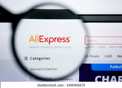 Los Angeles, California, USA - 25 June 2019: Illustrative Editorial of aliexpress website homepage. aliexpress logo visible on display screen.