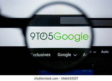 Los Angeles, California, USA - 29 Jule 2019: Illustrative Editorial of 9TO5GOGLE.COM website homepage. 9TO5 GOGLE logo visible on display screen.