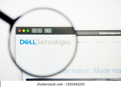 Los Angeles, California, USA - 5 March 2019: Dell Technologies website homepage. Dell Technologies logo visible on display screen, Illustrative Editorial
