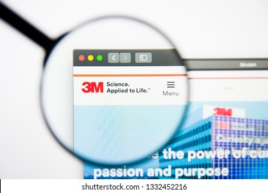 Los Angeles, California, USA - 5 March 2019: 3M website homepage. 3M logo visible on display screen, Illustrative Editorial