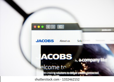 Los Angeles, California, USA - 5 March 2019: Jacobs Engineering website homepage. Jacobs Engineering logo visible on display screen, Illustrative Editorial