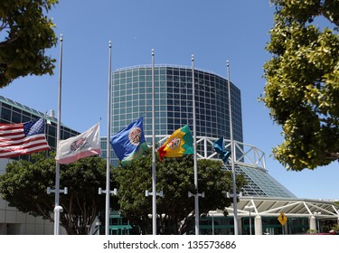 LOS ANGELES, CALIFORNIA, USA - APRIL 16, :The Convention Center in Downtown Los Angeles on April 16, 2013.  The annex designed by architect James Ingo Freed makes the total space 720,000 sq ft