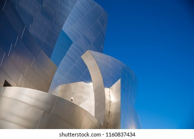 Los Angeles, California, USA - August 18, 2018. Walt Disney Concert Hall. It is home to the Philharmonic Orchestra of Los Angeles.