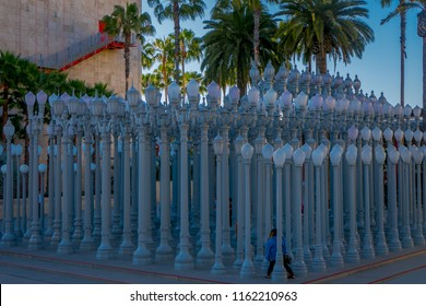 Los Angeles, California, USA, AUGUST, 20, 2018: Temporary outdoors exhibit at George Page Museum in mid Wilshire district in the city of Los Angeles