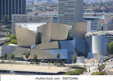 Los Angeles, California, USA - August 14, 2015: The Walt Disney Concert Hall, the fourth hall of the Los Angeles Music Center, serves as home of the Los Angeles Philharmonic orchestra.