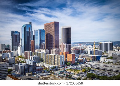 Los Angeles, California, USA downtown cityscape.