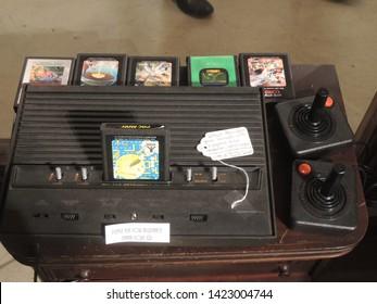 LOS ANGELES, CALIFORNIA / USA - FEBRUARY 12, 2015: Atari 2600 is on Sale