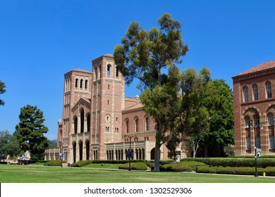 Los Angeles, California / USA - July 23, 2017: Royce Hall on the campus of The University of California, Los Angeles (UCLA)