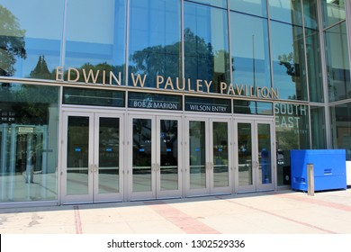 Los Angeles, California / USA - July 23, 2017: Edwin W. Pauley Pavilion on the campus of The University of California, Los Angeles (UCLA)