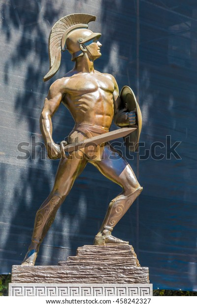 Los Angeles, California, USA - July 20, 2016; Tommy Trojan is a life-sized bronze statue of a Trojan warrior and source of pride of the University of Southern California (USC).