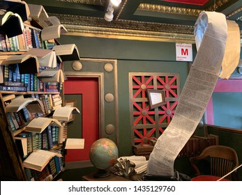 "Los Angeles, California (USA) - June 18, 2019. ""The Last Bookstore""is an iconic bookstore housed in the grand atrium of what used to be an old bank in downtown Los Angeles."