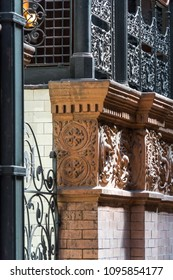 Los Angeles, California / USA - March 2018: The Bradbury Building in the heart of downtown LA is an historic building that is showcased in the original 'Bladerunner' movie.