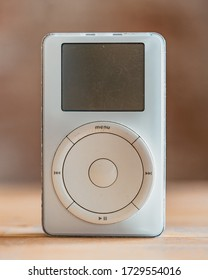 Los Angeles, California / USA - March 26, 2020: Close shot of the first gen iPod on a table