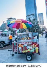 Los Angeles, California, USA, March 01, 2017: Nayeli's Fresh Fruit