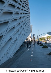 Los Angeles, California, USA, March 01, 2017: The Broad is a new contemporary art museum founded by philanthropists Eli and Edythe Broad on Grand Avenue in downtown Los Angeles which opened in Sep2015