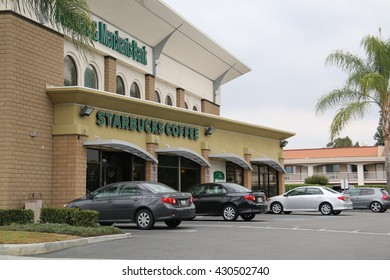 Los Angeles, California, USA - May 9, 2016: Starbucks, based in Seattle, is now the largest coffeehouse company in the world.