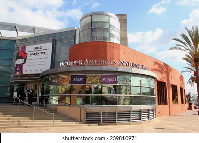 Los Angeles, California, USA - November 12, 2014: The Japanese American National Museum, located in Little Tokyo, Los Angeles, is a museum dedicated for Japanese America history and culture.