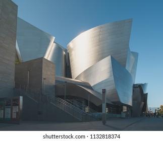 Los Angeles, California, USA, October 2017. Walt Disney Concert Hall in the city