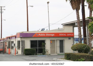 Los Angeles, California, USA - Public Storage is the largest brand of self-storage services in the U.S. with more than 2,000 locations in USA, Canada and Europe.