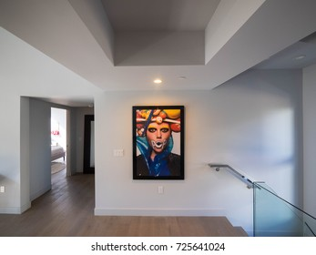 Los Angeles, California USA. September 2017, 2017. New construction modern home interior with model furniture and interior design setting before going into the real estate market