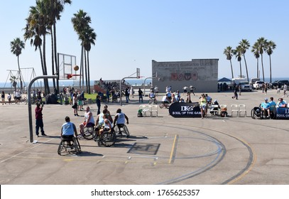 Los Angeles, California/United States - October 12th, 2019:  DK3 (David Kiley) Soul of the Game, 3x3 Wheelchair Basketball Tournament.