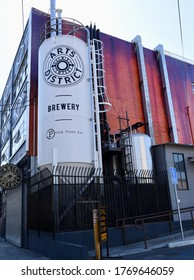 Los Angeles, California/United States - October 6th, 2019: Arts District Brewery