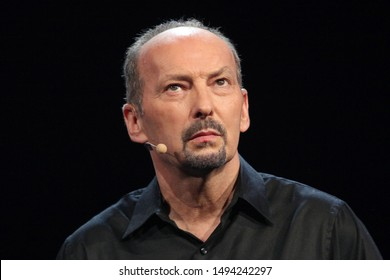 Los Angeles, California/USA- June 04, 2012: Electronic Arts COO Peter Moore speaks about 'Battlefield 3' during the 2012 Electronic Arts EA E3 press conference at the Orpheum Theater.