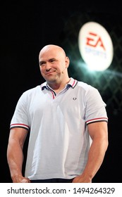 Los Angeles, California/USA- June 4, 2012: Dana White, President of UFC, speaks about a multi-year partnership between EA Sports and the UFC during the 2012 Electronic Arts EA E3 press conference.