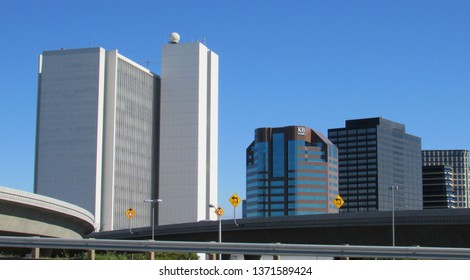 Los Angeles, Calif./USA-Feb. 28, 2017: The Wilshire federal office building in Westwood, left, houses regional offices of the FBI, Veterans Affairs and other agencies.