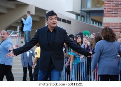 LOS ANGELES, CA-MARCH 27 : Actor George Lopez arrives at The Kids Choice Awards held at UCLA's Pauley Pavilion, March 27, 2010 in Los Angeles, CA.