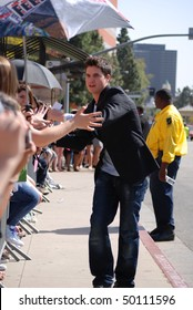 LOS ANGELES, CA-MARCH 27 : Actor Robbie Amell arrives at The Kids Choice Awards held at UCLA's Pauley Pavilion, March 27, 2010 in Los Angeles, CA.