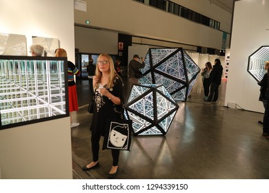 Los Angeles, CA/USA - 1/24/2019: The LA Art Show at Los Angeles Convention Center which is the The Most Comprehensive International Contemporary Art Show in America.
